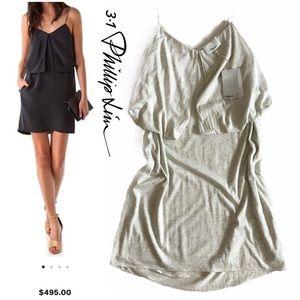 NWT 3.1 Phillip Lim Strap Multilayer Folded Dress